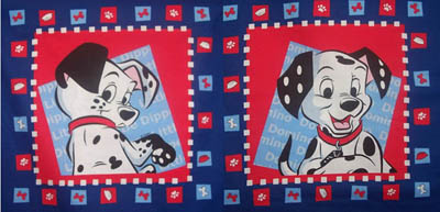 Disney 101 Dalmations - Set of 2 Cushion Panels
