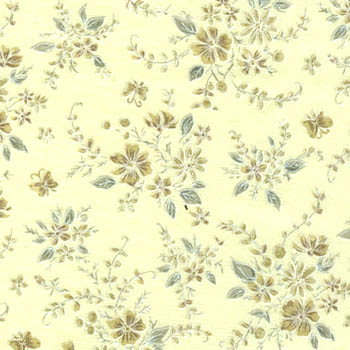 Tone on Tone by Fabri-Quilt - Floral Sprays on Natural 40199