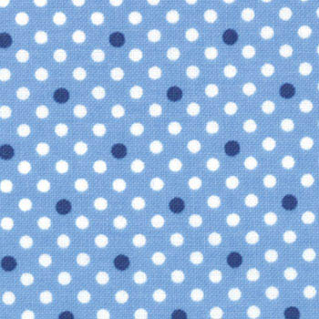Cape Ann Brushed by Moda - Folly Cove Dots Blue Flannel