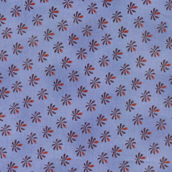 Prairie Homefront by Fabri-Quilt - Small Buds on Blue