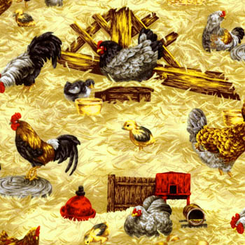 Farm Living by Fabri-Quilt - Chickens, Cockrels & Chicks