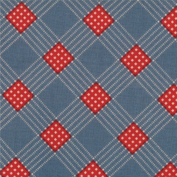 Prairie Paisley 11 by Moda Fabrics Dusty Blue Flag Plaid