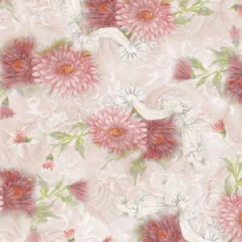 Shabby Tabbies by Henry Glass - Pink Floral