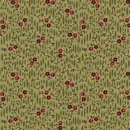 Manchester Manor Ikat Ditsy Floral Light Olive