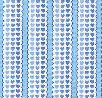 Our Part for the Heart QT - Playful Heart Stripes - Powder Blue