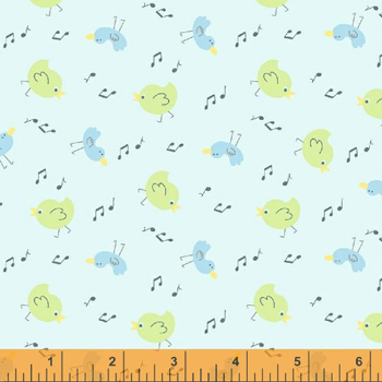 Simply Baby by Windham Fabrics - Tiny Chicks Blue - 80CMS