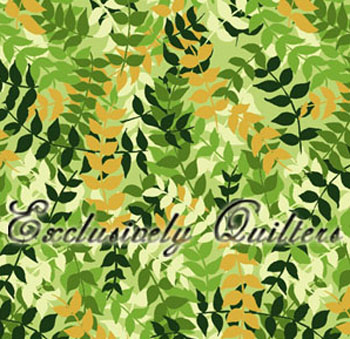 Whitetail Valley by Exclusively Quilters - Leaves Green