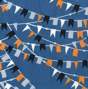 Cabana by Benartex - Nautical Flags Slate Blue