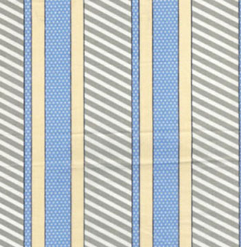 Cabana by Benartex - Dotted Stripe Sage/Peri
