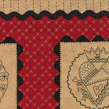 Full Circle by Moda Fabrics - Home Life Panel Barn Red