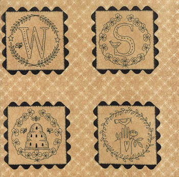 Full Circle by Moda Fabrics - Monograms Panel Wheat