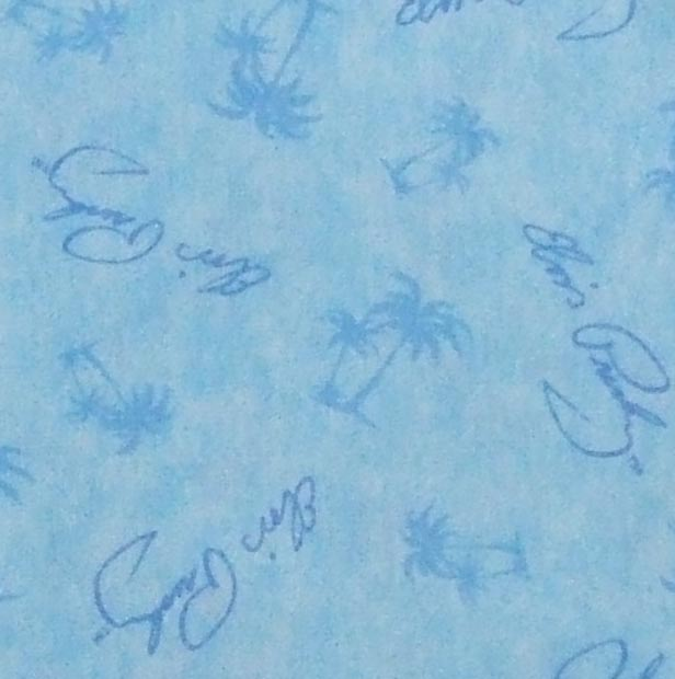 Elvis Blue Hawaii Palm Tree Texture Blue