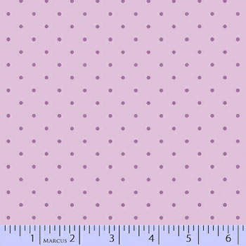 Baby Girl Cotton Flannel Fabric by Marcus - Lilac Dot