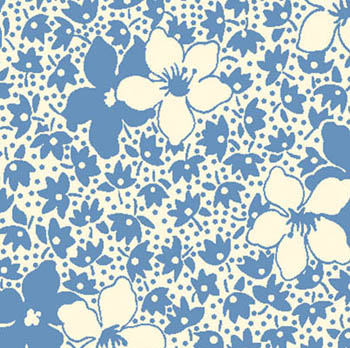 Feedsack 11 by Blue Hill - Floral Allure Blue