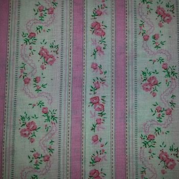 Pink Floral Stripe from Ebor Fabrics 779/04