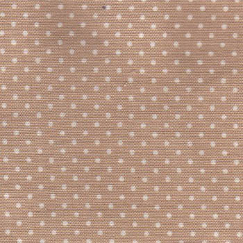 Sevenberry Fabrics - White Micro Dots on Beige