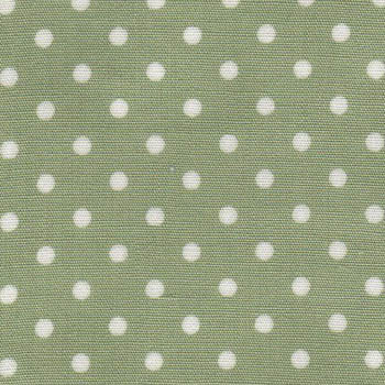 Sevenberry Fabrics - Small White Dots on Sage Green