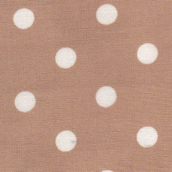 Sevenberry Fabrics - White Polka Dots on Beige