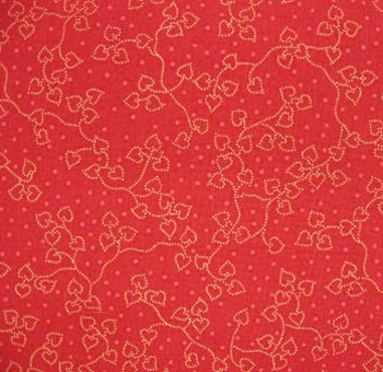 Turn of the Century by Exclusively Quilters - Vines on Red