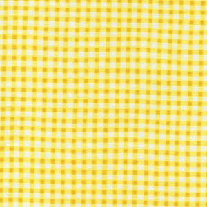 Gingham Check by Makower Fabrics - Yellow Y4