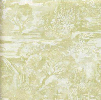 A Country Garden by Fabric Freedom Country Cottage Scenic Green