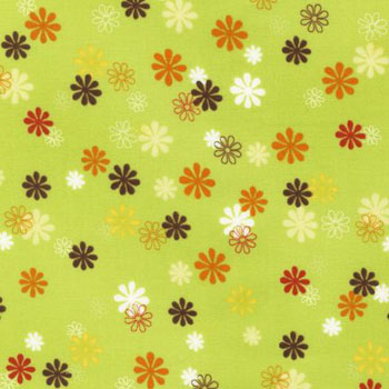 Playday by Robert Kaufman - Daisies Spring Green