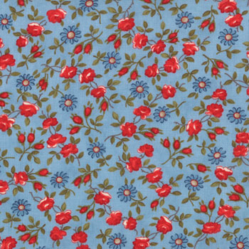 American Banner Rose by Moda Dainty Floral Denim