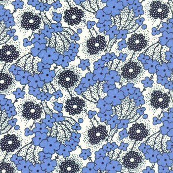 Antique Treasures by Fabri-Quilt - Blue Floral