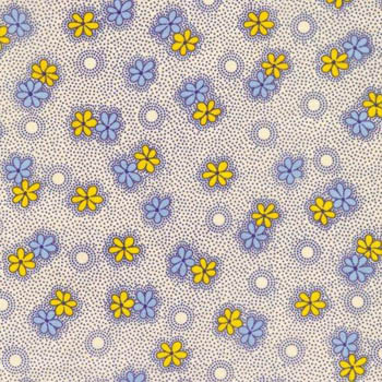 Antique Treasures by Fabri-Quilt - Yellow & Blue Flowers