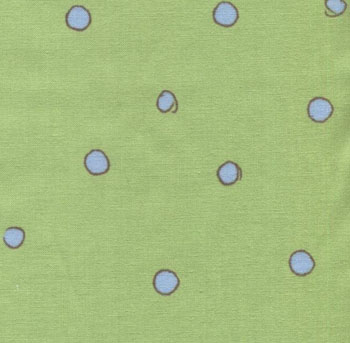 Baby Moon by Fabri-Quilt - Circles Dots On Green