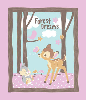Bambi Woodland Dreams - Cot Panel/Wallhanging