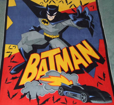Batman with Batmoblie Fleece Panel 3358/10