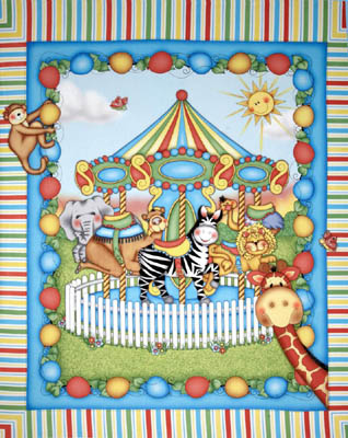 Bazooples Carousel by Springs - Cot Panel/Wall Hanging