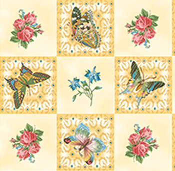 Flutter Fantasy by Quilting Treasures - Butterfly Patch Beige