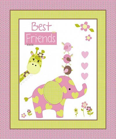 Best Friends - Cot Panel Wallhanging