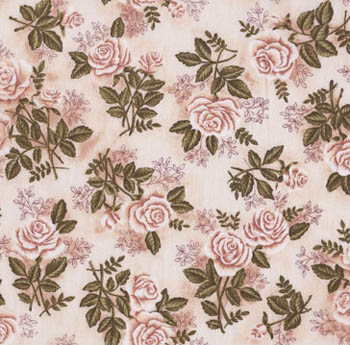 Classic Rose by Makower - Chintz 1V Cream Roses