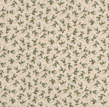 Classic Rose by Makower - Cream Rose Buds on Cream