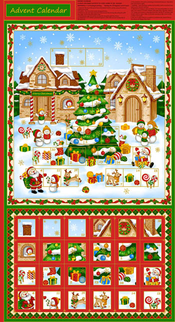 Christmas Village by Fabri-Quilt - Advent Panel