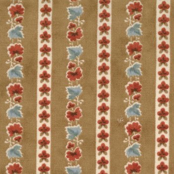 Hope Moda Fabric - Floral Stripe Caramel