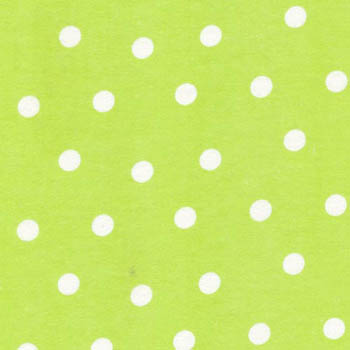 Cuddle Print Flannel by Fabri-Quilt - Spots On Lime Green