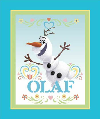 Disney Frozen Fabric - Olaf Panel