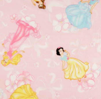 Disney Princesses Polar Fleece - Princess Blossom Toss on Pink