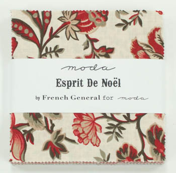 Esprit De Noel by French General for Moda - Charm Squares