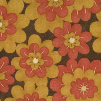 Essence Moda Fabric - Flower Heads on Purple