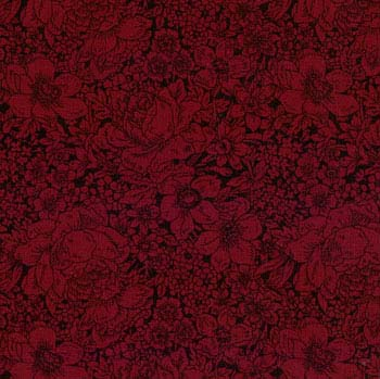 Moda Essentials Fabric Floral Red