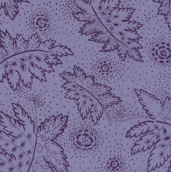 Moda Essentials Fabric Leaves Lavender