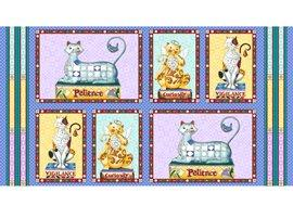 Fancy Felines by Quilting Treasures - Blocks Panel