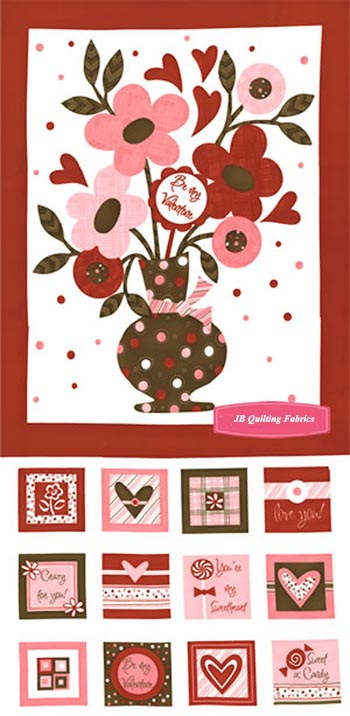 Flirtations by Moda - Be My Valentine- Panel & Blocks