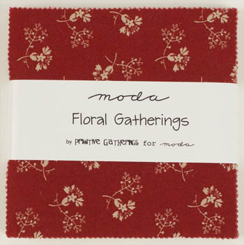 Floral Gatherings by Moda - Charm Squares