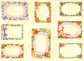 Floral Vignette by Fabri-Quilt - Floral Border Labels x 22